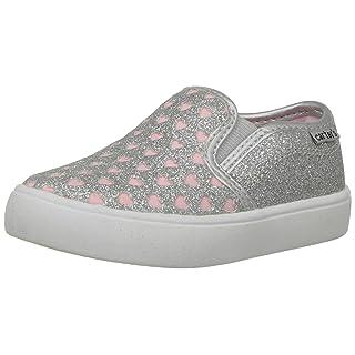 carter's Girls' Tween Casual Slip-on Sneaker, Silver, 7 M US Toddler