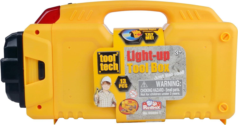 Caja de herramientas de juguete con linterna Importado de Alemania Red Box 65085