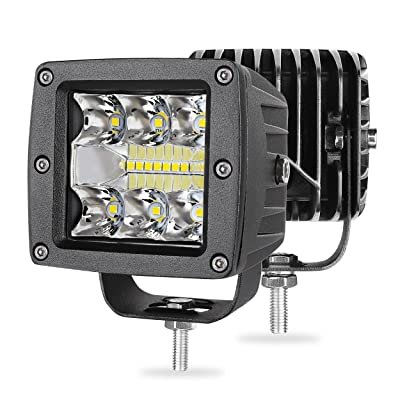LED Cube Lights, SWATOW 4x4 2pcs 68W 3 Inch LED Light Bar OSRAM LED Cubes Off Road Driving Light Flood Spot Combo Light Pod Work Light for Truck Jeep Motorcycle SUV ATV Boat: Automotive