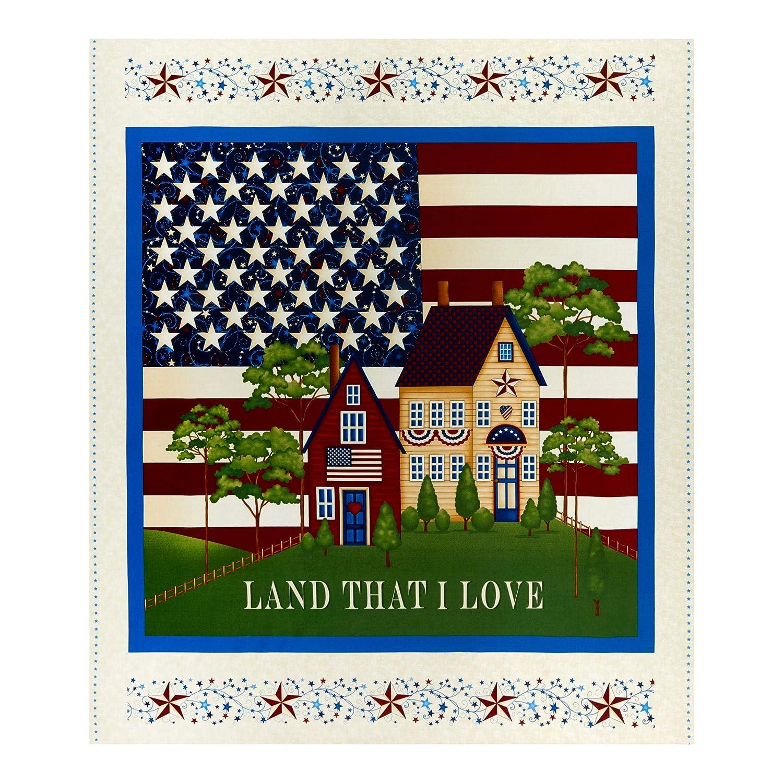 Henry Glass Land That I Love 36 Banner Panel Cream