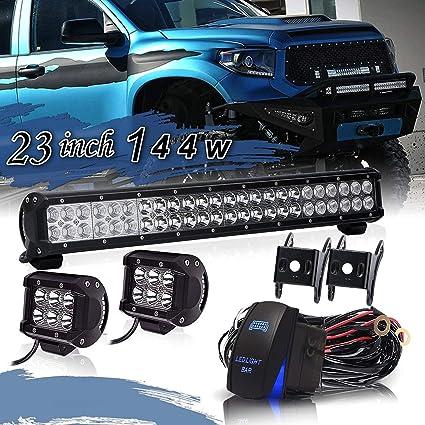 """10/"""" 20/"""" 30/""""LED Slim Light Bar Work SPOT FLOOD Combo Beam Truck Offroad SUV ATV"""