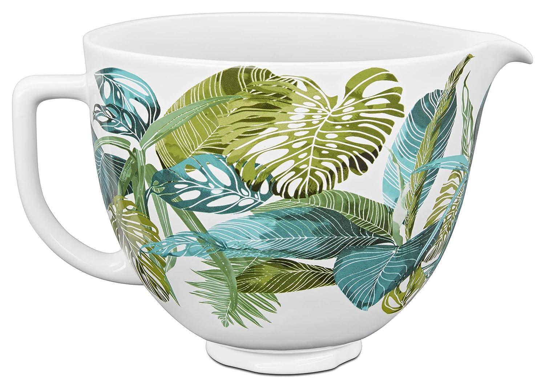 KitchenAid KSM2CB5PTF Accs Portable Appliance Ceramic Bowl, 5 quart, Tropical Floral