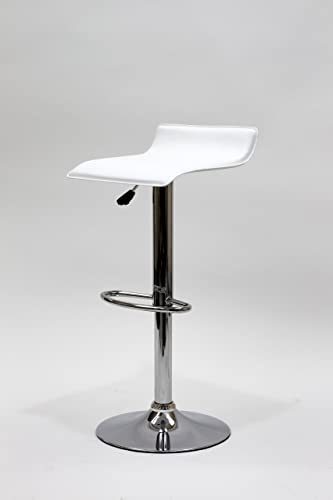 South Mission Omega Faux Leather Contemporary Bar Stool – White