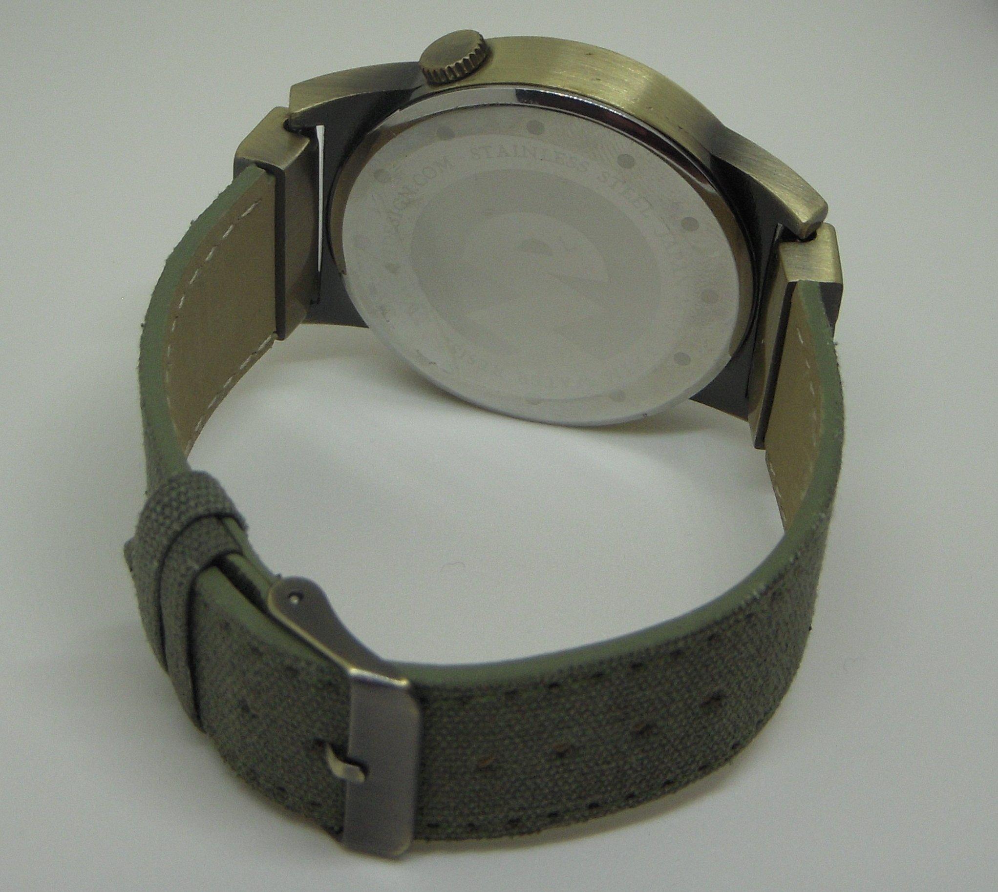 Verne Voyage Dual time Japan Brass Antiqua Steampunk Travel Watch 5