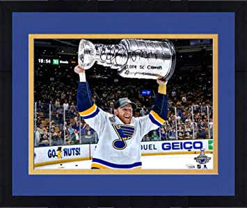 Fanatics Authentic Certified Louis Blues 2019 Stanley Cup Champions Autographed 8 x 10 Raising Cup Photograph Framed Vladimir Tarasenko St