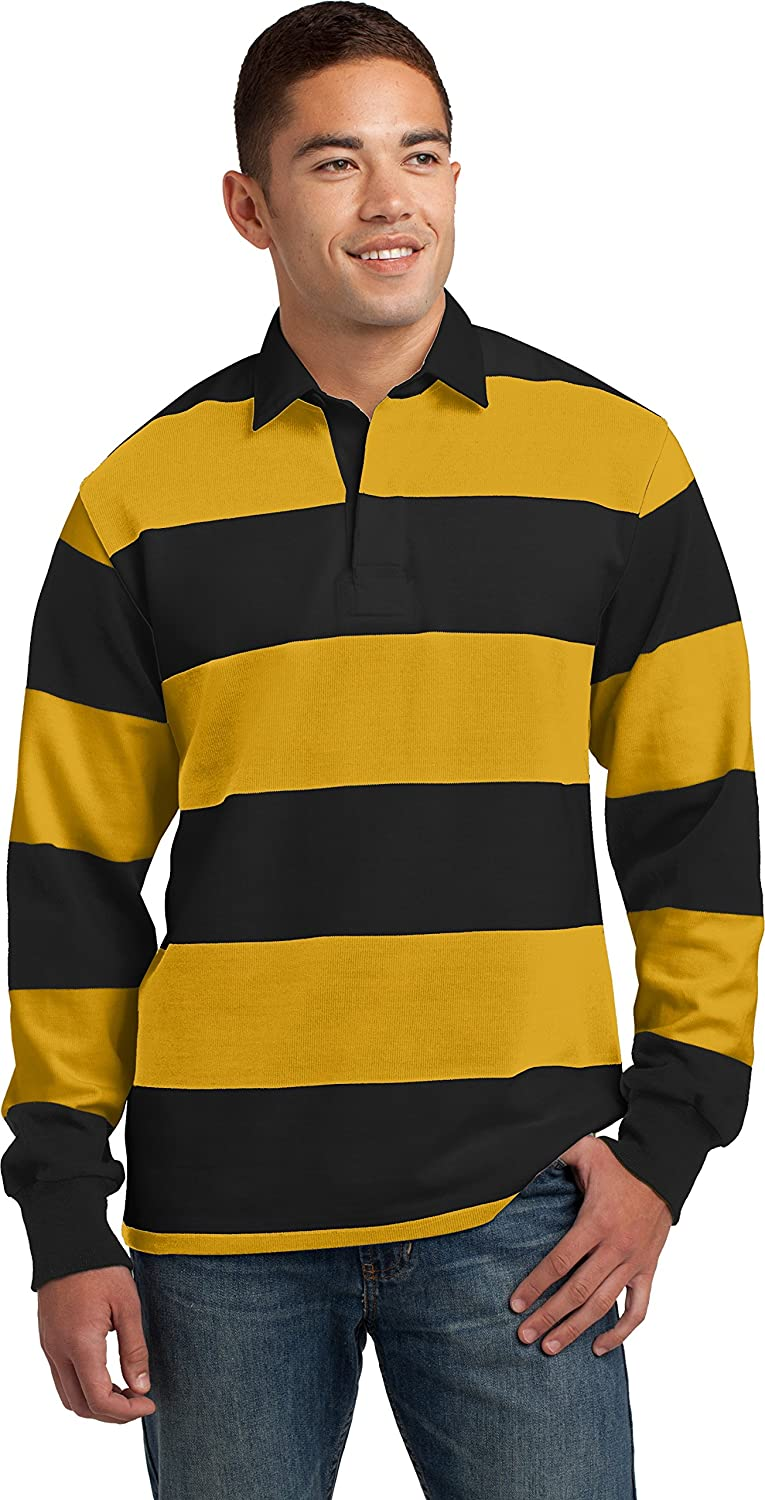 Sport-Tek Men's Long Sleeve Rugby Polo