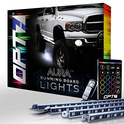 Amazon aura running board nerf lights by opt7 lighting side aura running board nerf lights by opt7 lighting side bar step light led kit for aloadofball Images