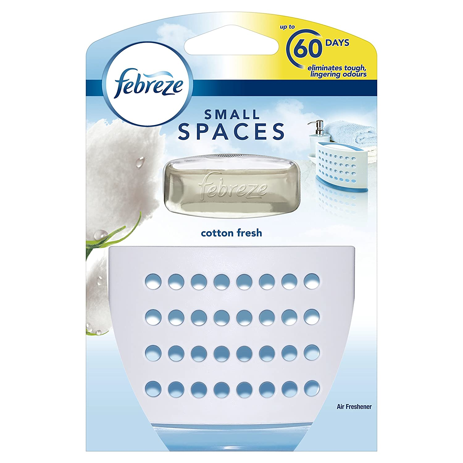 Febreze Small Spaces Air Freshener Cotton Fresh Starter Kit, 5.5 ml, Pack of 7 Procter & Gamble 81409247