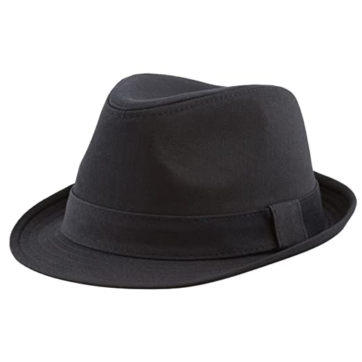 98c29db9c25 THE HAT DEPOT Unisex Cotton Twill Herringbone Fedora Hat at Amazon ...