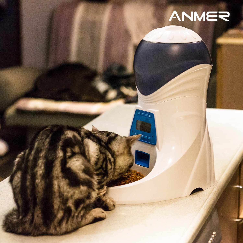 Comedero Electrónico Automático con Recordatorio por Voz y Temporizador Programable para perros y gatos por solo 72,99€
