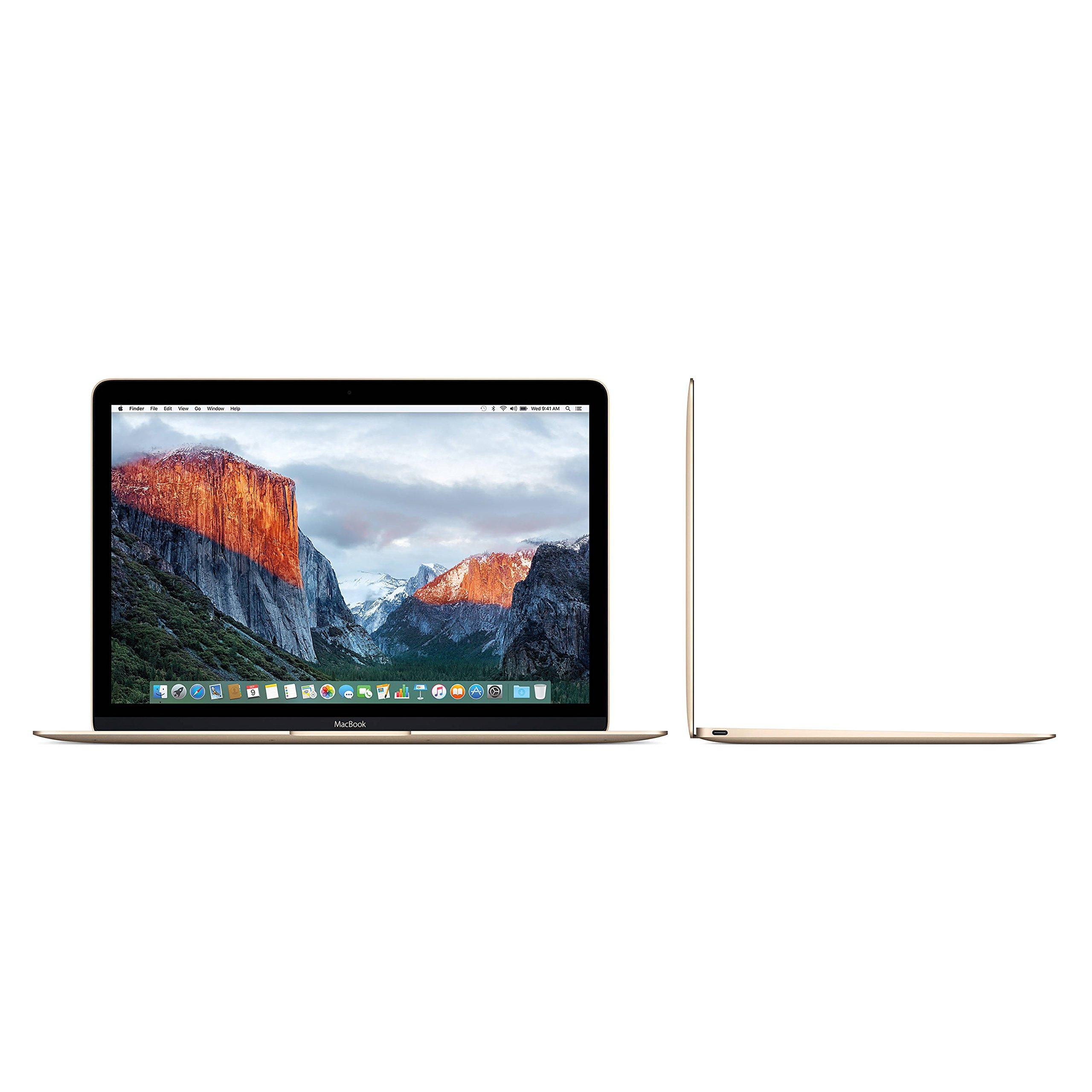 "Apple Gold Macbook - MK4N2LL/A Core M-5Y51 1.2GHz (up to 2.6GHz), 8GB RAM,512GB SSD, 12"" Retina IPS, Laptop (Renewed)"