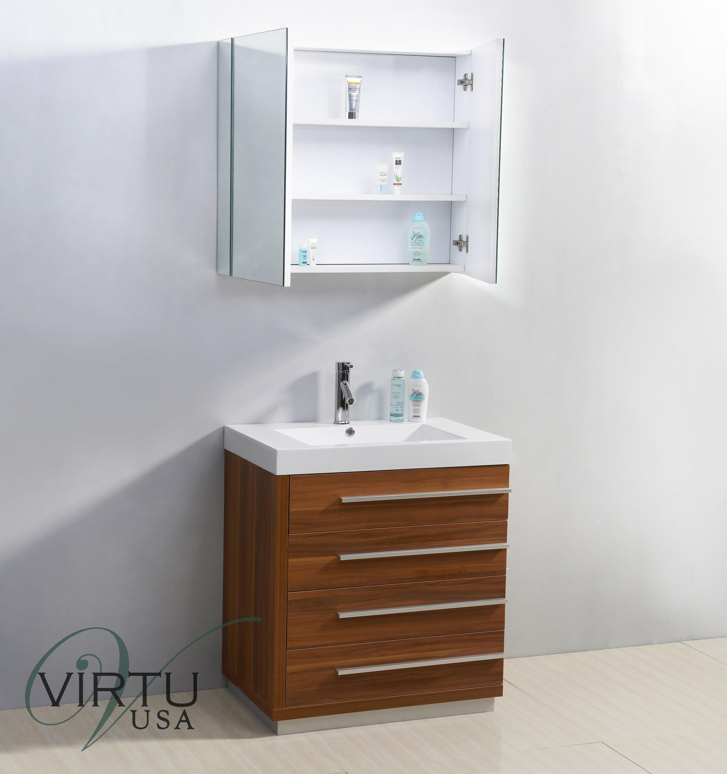 Virtu USA JS-50530-PL 30-Inch Bailey Single Sink Bathroom Vanity, Plum