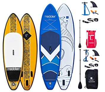 "redder Pack De 2 Tablas Paddle Surf Hinchables 9 & 105"" Rouge"