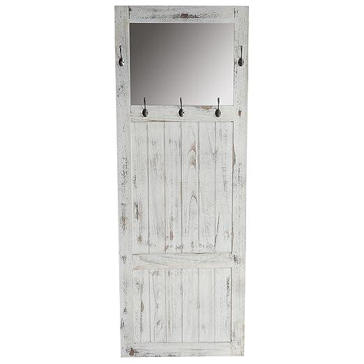 Perchero de pared con espejo de pared 180 x 65 x 7 cm ...
