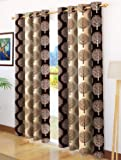 Story at Home Door Curtain Set, Brown/Cream, 118 x 215 cm, DGY2021, 2 Pieces
