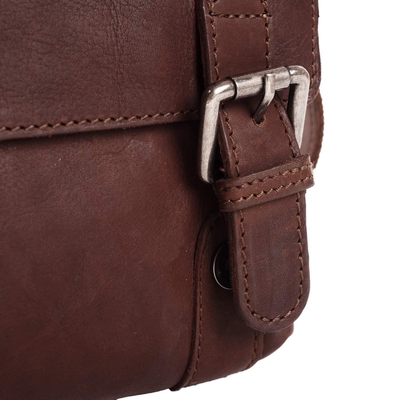 The Chesterfield-märket Alden axelväska läder 16 cm Brun