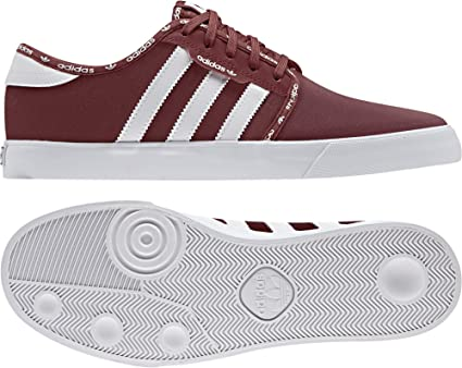 adidas Seeley Baskets pour Homme Rouge 7,5 US: