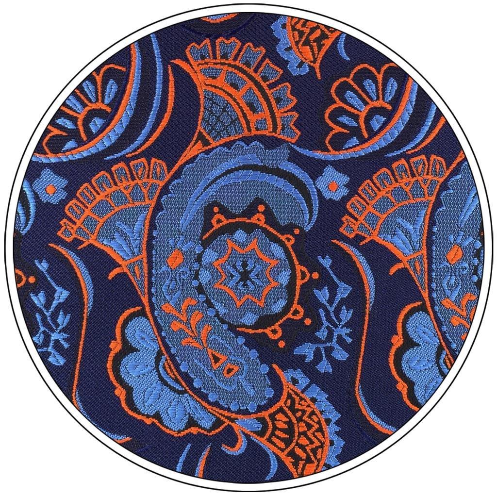 Shlax&Wing único Seda Hombre Corbatas Para Azul Naranja Floral ...