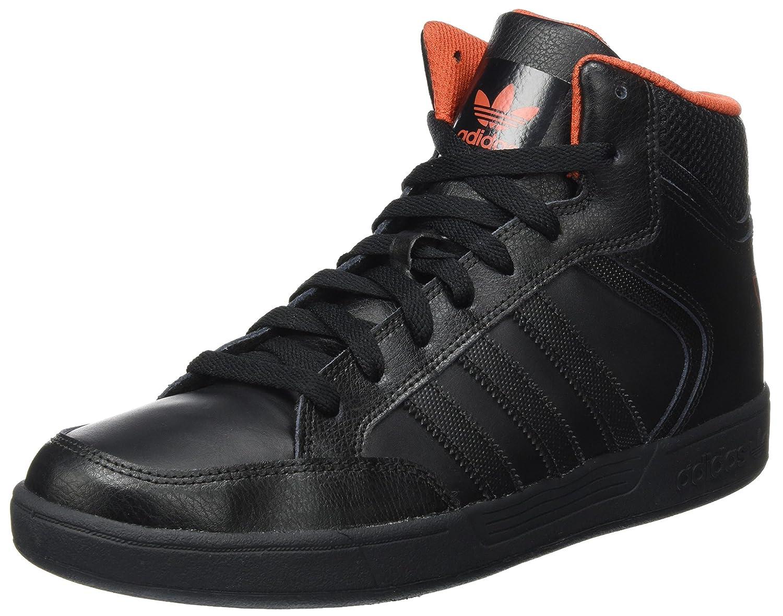 adidas Unisex-Erwachsene Varial Mid Hohe Sneaker  40 2/3 EU|Schwarz (Core Black/Core Black/Native Orange)