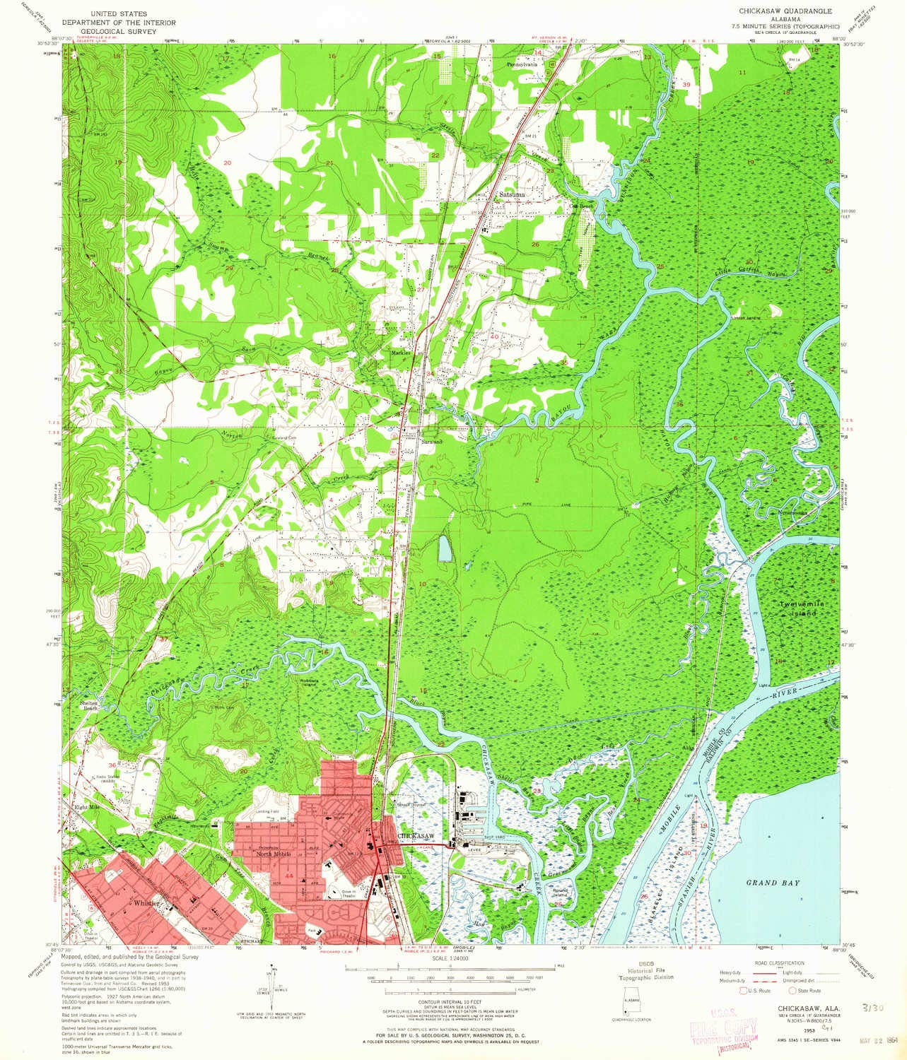 Elevation Map Of Spain.Amazon Com Yellowmaps Chickasaw Al Topo Map 1 24000 Scale 7 5 X