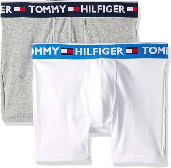 Black Tommy Hilfiger Underwear Men/'s Bold Cotton Stretch Trunk Boxer Brief