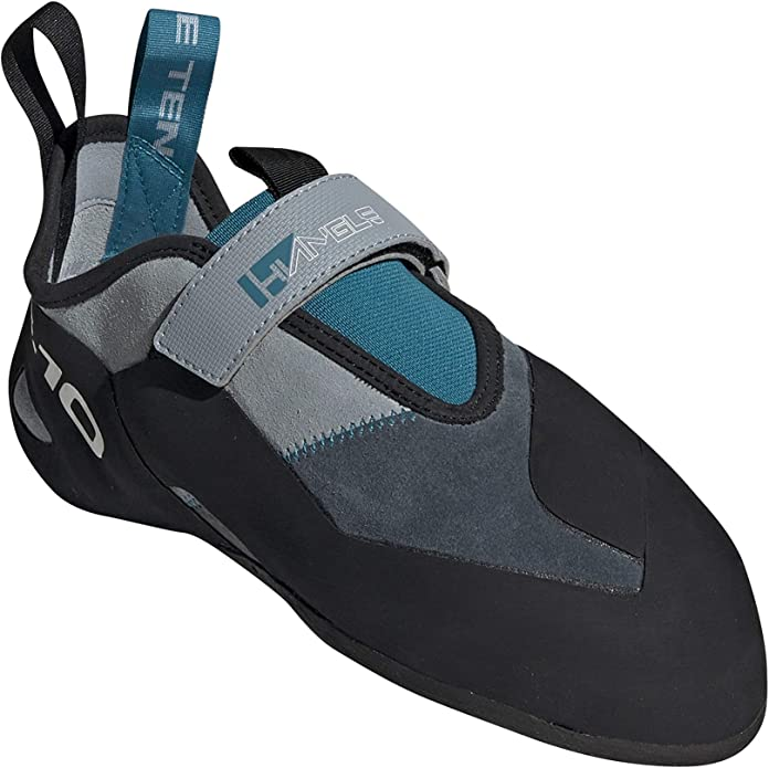 Size 7 Five Ten Hiangle Mens Climbing Shoes, Light Grey, Bold Onix, Vivid Teal