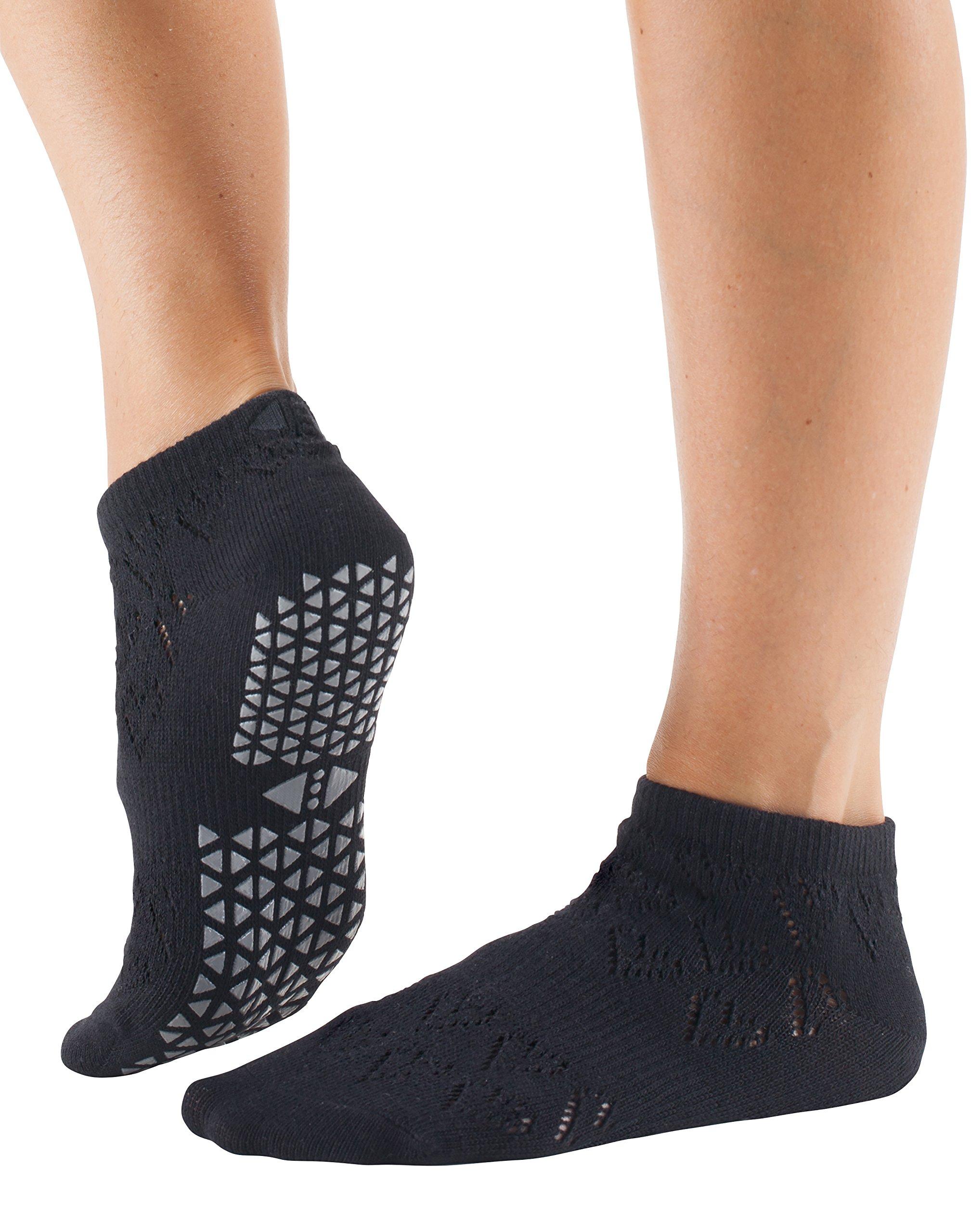Tavi Noir Women's Lily Low Rise Grip Socks (Love Ebony) Small