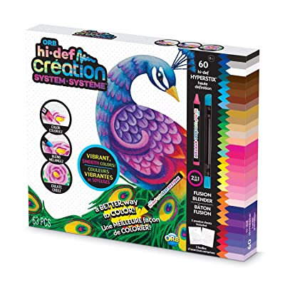 "Orb The Factory Hi-Def Creation Coloring System, Multiple Colors, 10"" x 11.75"" x 1.5"": Toys & Games"