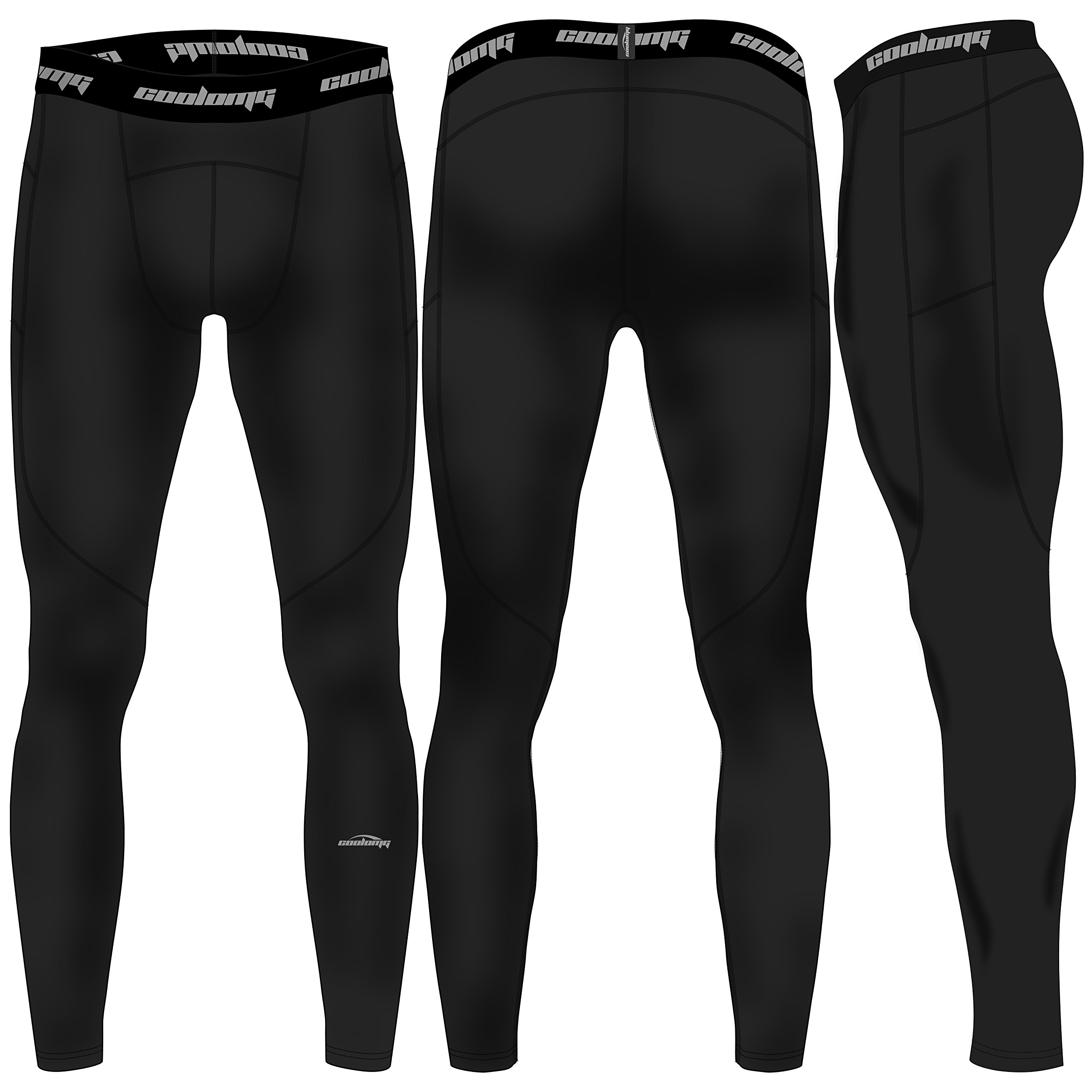 COOLOMG Navy Men Youth Compression Base Layer Quick Dry 3//4 Pants Tights XS-XXL