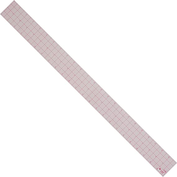 "Westcott 12 Inch Beveled See-through Ruler 8ths Graph Grid 2/"" Wide"