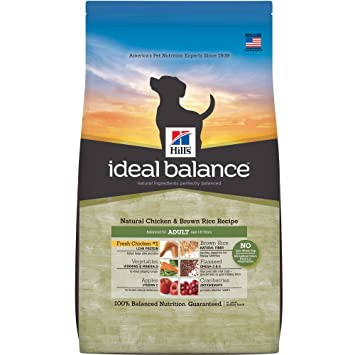 Ideal Balance Dog Food >> Amazon Com Hill S Ideal Balance Adult Natural Chicken Brown