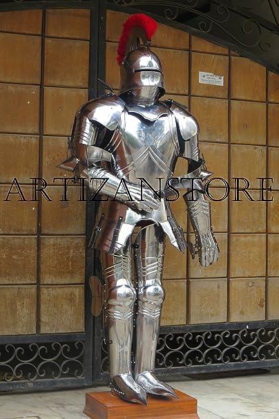 Amazon.com: ARTIZANSTORE - Traje de armadura gótico alemán ...