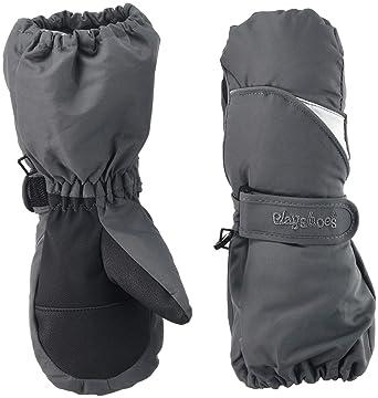 Playshoes Jungen Schnee Fäustlinge Skihandschuhe Handschuhe,, per pack Grau (grau 33), 2 (Herstellergröße: 2)