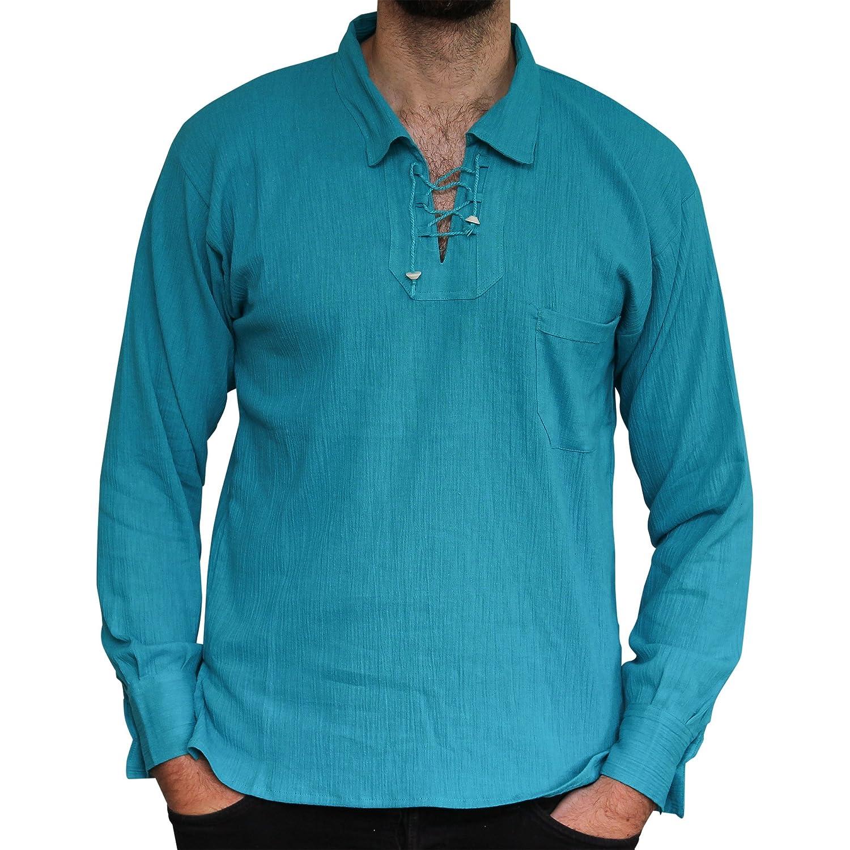 Camisa de algod/ón de verano comercio /ético con cord/ón.