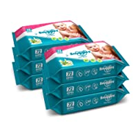 Snuggles Baby Wet Wipes With Aloe Vera and Vitamin E, 72 Pcs/Pack (Pack of 6)