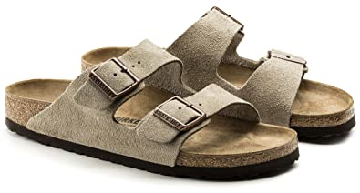 e4124e3df89 Image Unavailable. Image not available for. Color  Birkenstock Arizona  2-Strap Suede Leather Sandals ...
