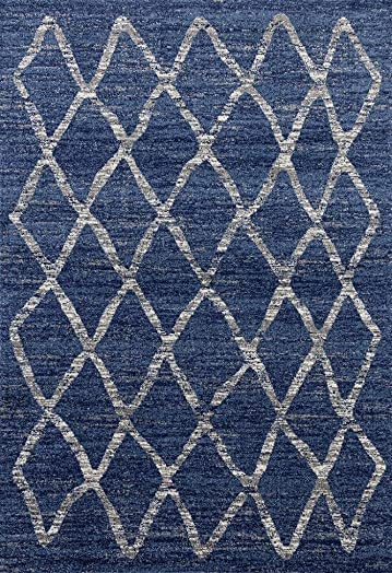 Dara 4105 Blue Modern 8 x 10 Area Rug Carpet Large New
