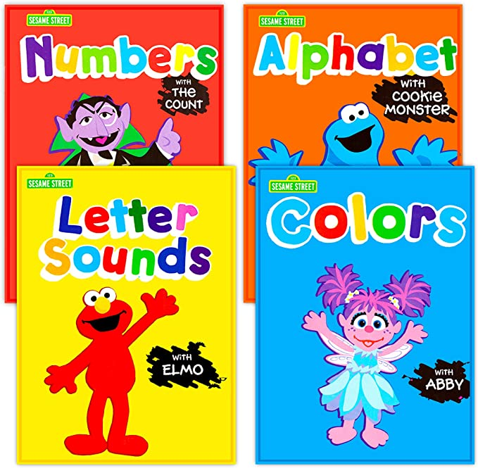 Amazon.com: Sesame Street Workbooks Preschool (Set Of 4 Workbooks --  Alphabet With Elmo, Letter Sounds, Numbers And Colors): Toys & Games