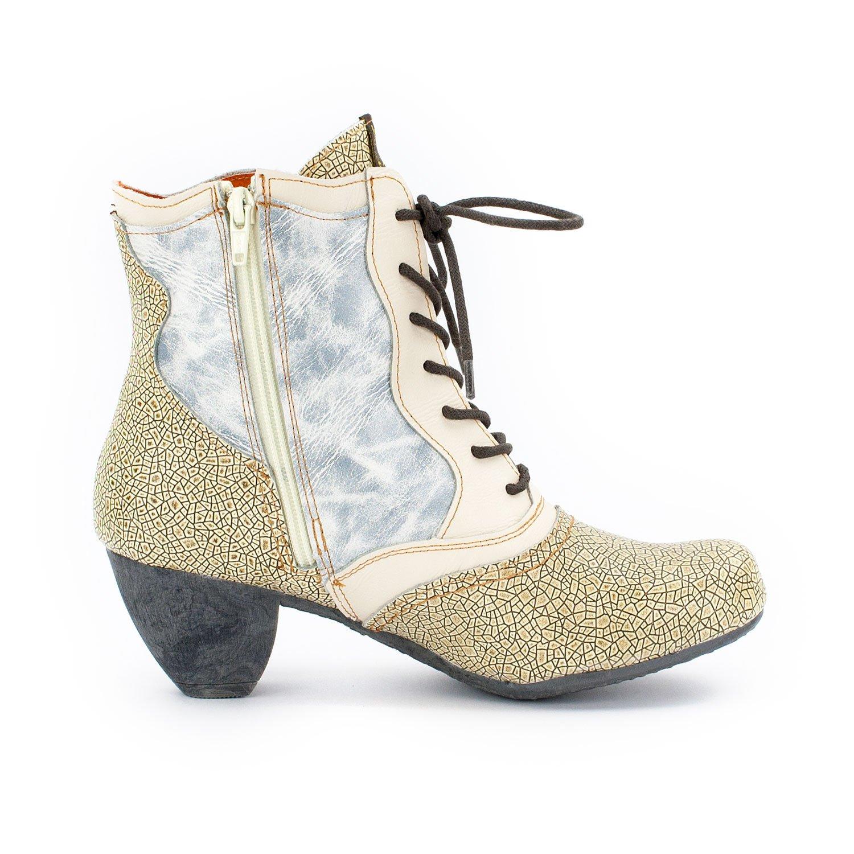 8b91231a457049 TMA Damen Leder-Stiefeletten 8908 Animal-Look  Amazon.de  Schuhe    Handtaschen