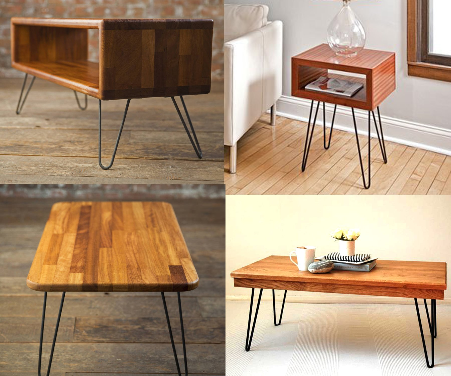 34'' Hairpin Legs (Matte Black) DIY Industrial Strength Mid Century Modern Table Legs, Set of 4 (34'') by ECLV (Image #8)