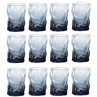 Vasos de bebidas alcohólicas Bormioli Rocco vidrio decorativo Sorgente - Ocean Blue - 300ml - Paquete de 12