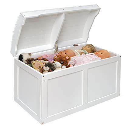 White Barrel Top Toy Storage Box With Lid Containers And Chest Organizer  Bins For Kids Pet