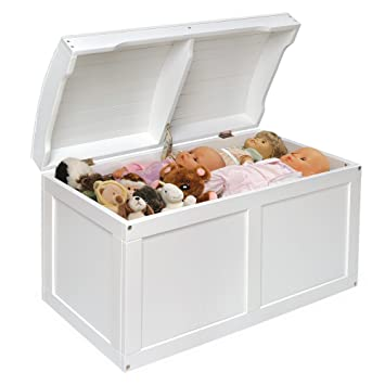 Etonnant Amazon.com: White Barrel Top Toy Storage Box With Lid Containers And Chest  Organizer Bins For Kids Pet Toys ,Cars And Accessories   Children Home  Units ...