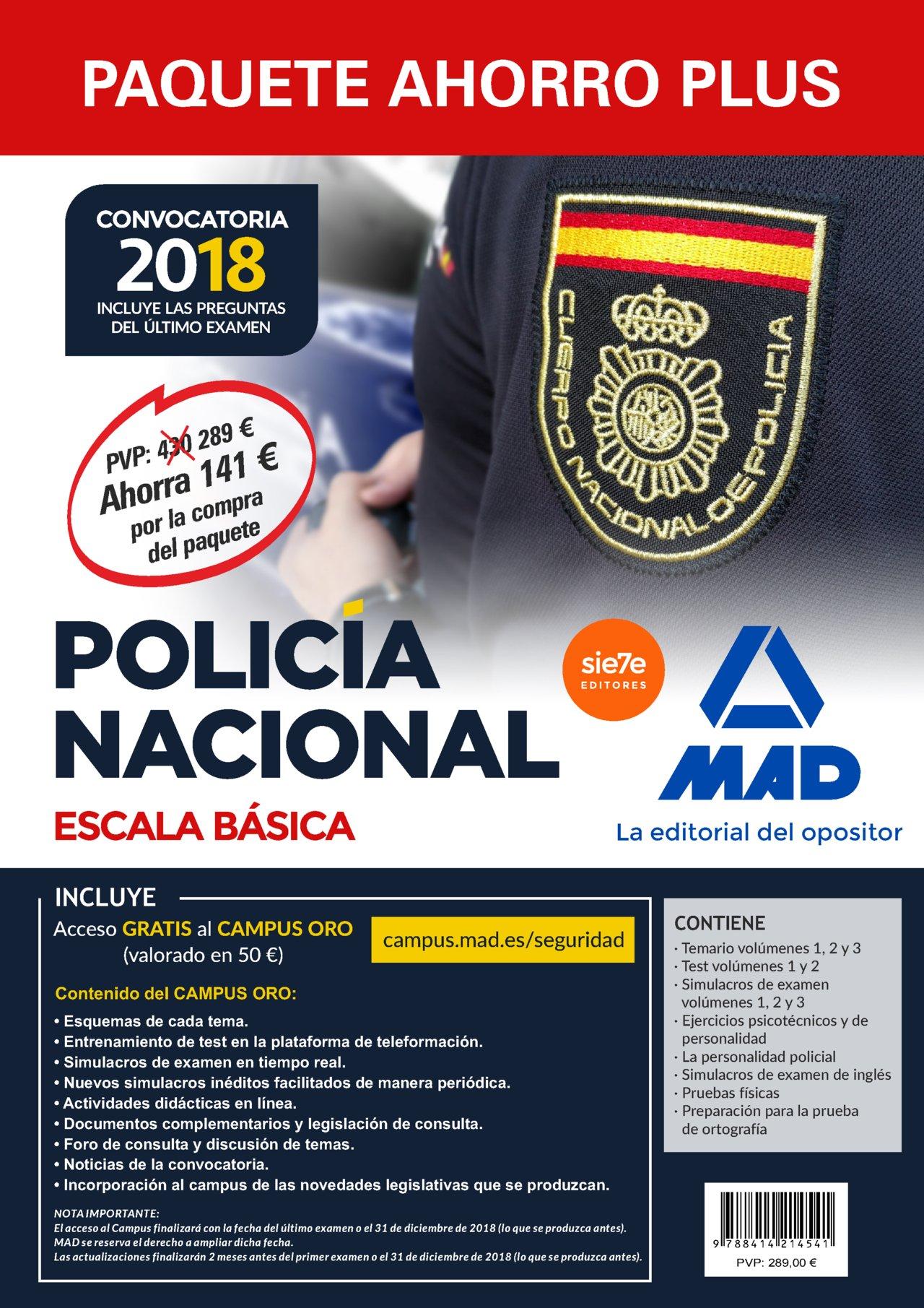 Paquete Ahorro PLUS Escala Básica Policía Nacional 2018 ...