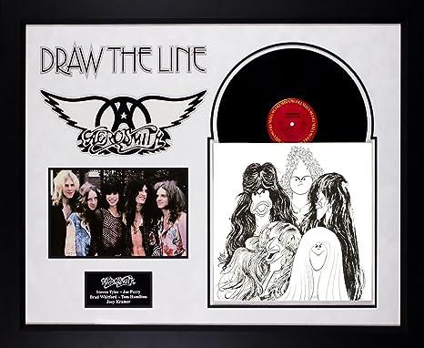 Amazon Com Aerosmith Draw The Line Band Signed Album Lp Custom