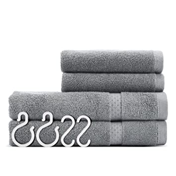 Hand Towels Bathroom Sets ULG Cotton Washcloth Luxury Hotel Grey Towel Use  For Bath Hand Face