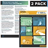 Covid 19 Signs Stop The Spread Workplace Posters - 2 Styles Included - Open For Business and Break Room UV Laminated…