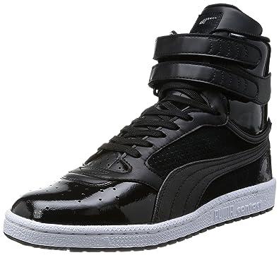 0c92c8b136b Puma Men s Sky 2 Hi Urban Triple Black Leather Sneakers - 8 UK India ...