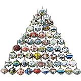 Assortimento Multi Color Ceramic cassetti pomelli per porta armadio maniglie indiane Mix bottoni, ceramica, Multicolore, VENTE POUR - Lot de 10 pièces