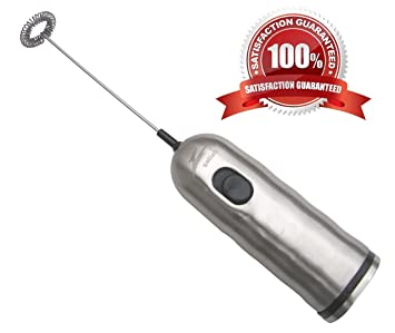 Geiley Stainless Steel Electric Milk Frother -- The Most Powerful and Durable Frother on the